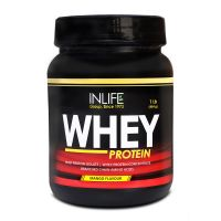 INLIFE Whey Protein Powder 1 Lbs(Mango Flavour) Body Building Supplement
