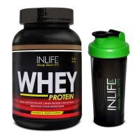 INLIFE Whey Protein Powder 2 Lbs  (Cookies  Cream Flavour) With Free Shaker