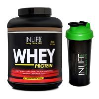 INLIFE Whey Protein Powder 5 Lbs (Cookie And Cream Flavour) With Free Shaker