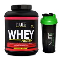 INLIFE Whey Protein Powder 5 Lbs (Strawberry Flavor) With Free Shaker