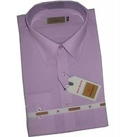 Grahakji Men's Purple Regular Fit Formal Poly-Cotton Shirt