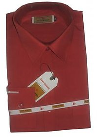 Grahakji Men's Pink Regular Fit Formal Poly-Cotton Shirt