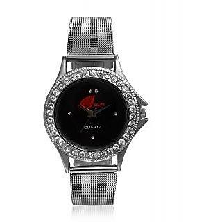 Arum Round Dial Silver Metal Strap Womens Watch
