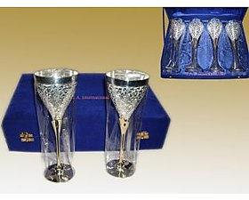 Brass Silver Plated Goblets