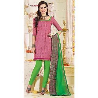 Czar Atisunder 6007 Pink  Green Unstitched Designer Suit