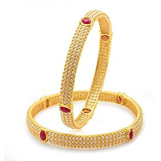 Sukkhi Gold Plated Gold Gold Bangles For Women