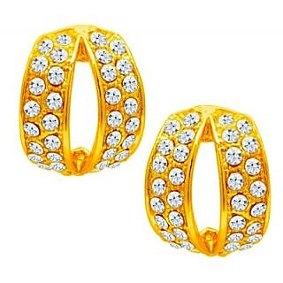 Sukkhi Gold Plated Austrian Diamond Gold Studs For Women