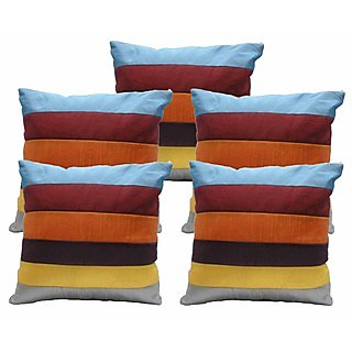 Ambbi Collections Multi Color Polyester Cushion Cover