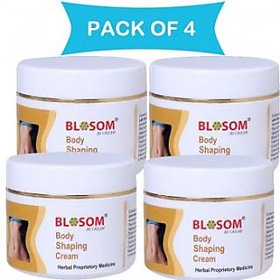 Blosom Body Shaping, Slimming and Toning Cream (Combo Pack of 4 bottles)