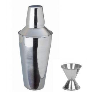 2 piece Bar set (Large) - Regular cocktail shaker and peg measure