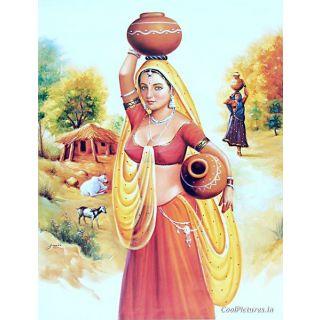 Easy Rajasthani Paintings Of Women Rajasthan