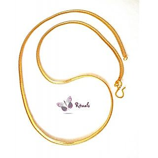 22 LONG GOLD PLATED CHAIN-GUARANTEE OF GOLD POLISH