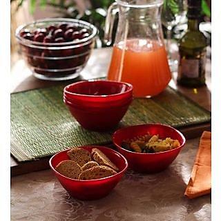 Serving Bowls - Incrizma 6 Pc Small Bowl(Katori) - Red