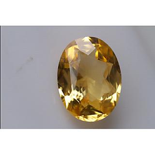 pukhraj Yellow Topaz pukhraj 6.42 carate checker cut Jupiter gemstone