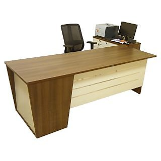 Office Table with Side Unit