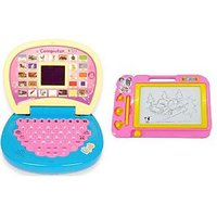 English Learning Laptop And Magic Drawing Pad With Stylus Pen