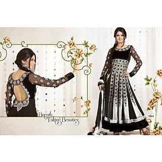 Diyana Fashion Ladies Semi-Stitched Suit Black
