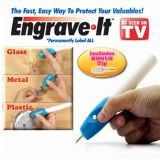 Gadget Hero's 	 Engrave It Etching Engraver Engraving Pen For All Glass Metal Plastic Wood Includes Bonus Replacement Tip & 2 AA Batteries.
