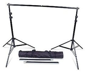 Photography Backdrop Stand Kit Background Support System Kit Portable with Bag