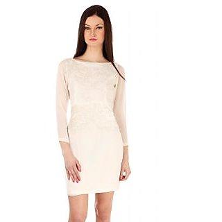 Erina White Georgette Womens Dress