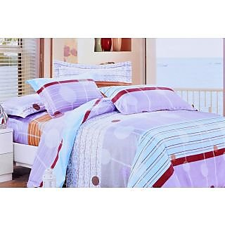 Valtellina Pleasing Circle With Waves Print Double Bed Sheet (TITAD-009)