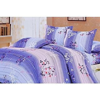 Valtellina Divine Lineing Print Double Bed Sheet (TITAD-018)