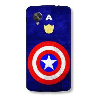 Astrode Captain America Back Case for LG Google Nexus 5