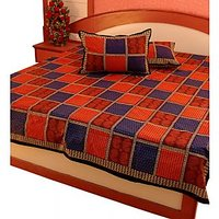 Little India Pure Cotton Double Bed Sheet Home Furnishing