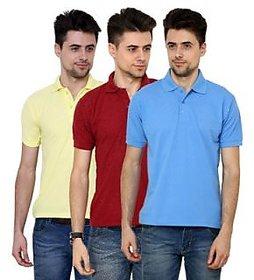Grand Bear Multicolor T-Shirt For Men (Pack Of 3)