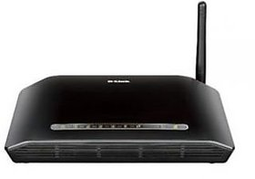 DLink 150Mbps Wireless N ADSL2+ Modem Router WiFi, D-Link DSL 2730U, 4 Port