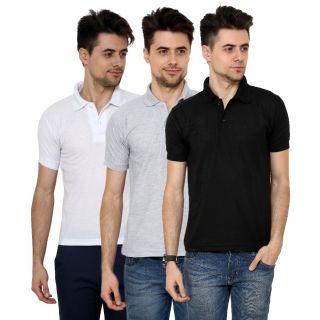 Grand Bear Black  White T-Shirt For Men (Pack Of 3)