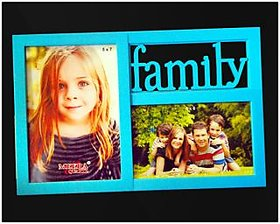 Two photos collage photo frame Colour as per availability.