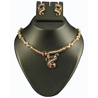 Kriaa Exclusive Design Necklace Set in Purple  -  2101904