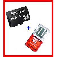 Free CARD READER - Sandisk 8Gb Micro SD, Memory Card - Class 4 Micro SD