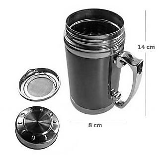 Arts  Kraft  Satinless Steel Best Quality Mug ( colour as per availability) red green steel grey etc