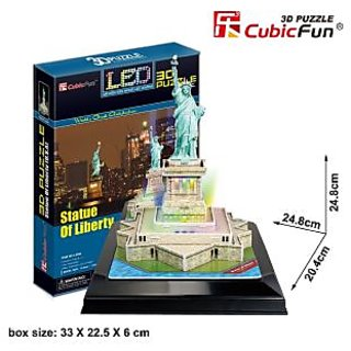 CubicFun LED 3D Puzzle Statue of Liberty 37 Pieces