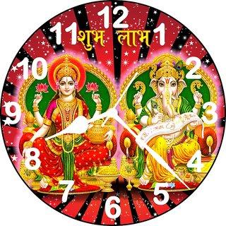 3D designer laxmi ganesh wall clock