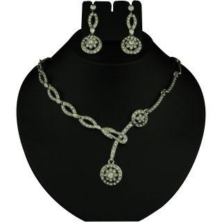 Kriaa Pretty White Necklace Set  -  2102902