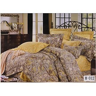 Valtellina 100% Cotton Stain Art King Size Double Bed Sheet (MA-012)