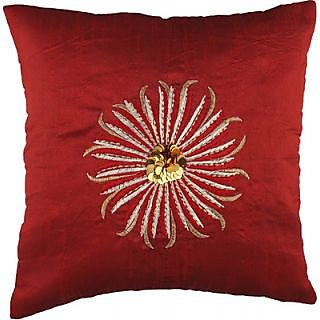 Nikunj Sequenced Embroidered Floral Cushions Cover (NEP-512)