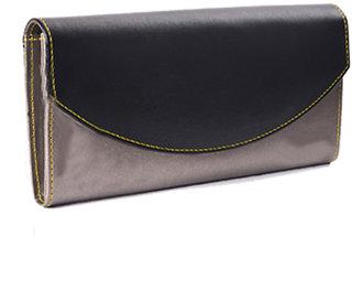 Meia Womens Black  Grey Color Wallet