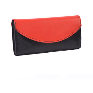 Meia Womens Red  Black Color Wallet