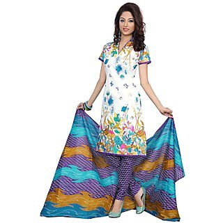 Snazzy Snazzy Multicolor Cotton Printed Unstitch Salwar Suit