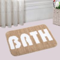 Super Soft Water Absorbent Anti Slip Micro Bathmat With Latex Rubber Backing