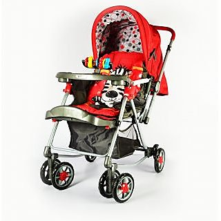 Panda Baby Stroller - Safe, Comfortable  Convenient (Red)