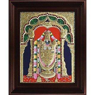 Myangadi Thirupathi Venkatachalapathi Tanjore Painting Myaz001-S1