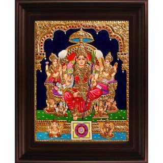 Myangadi Lalithambigai Tanjore Painting Myaz035-S10