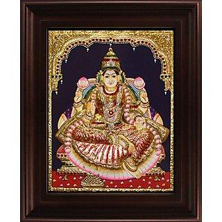 Myangadi Iswarya Lakshmi Tanjore Painting Myaz098-S6