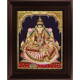 Myangadi Iswarya Lakshmi Tanjore Painting Myaz098-S11