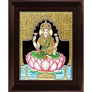 Myangadi Dhana Lakshmi Tanjore Painting Myaz101-S5